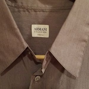 Armani Collezioni LARGE Luxury Shirt Made in Italy